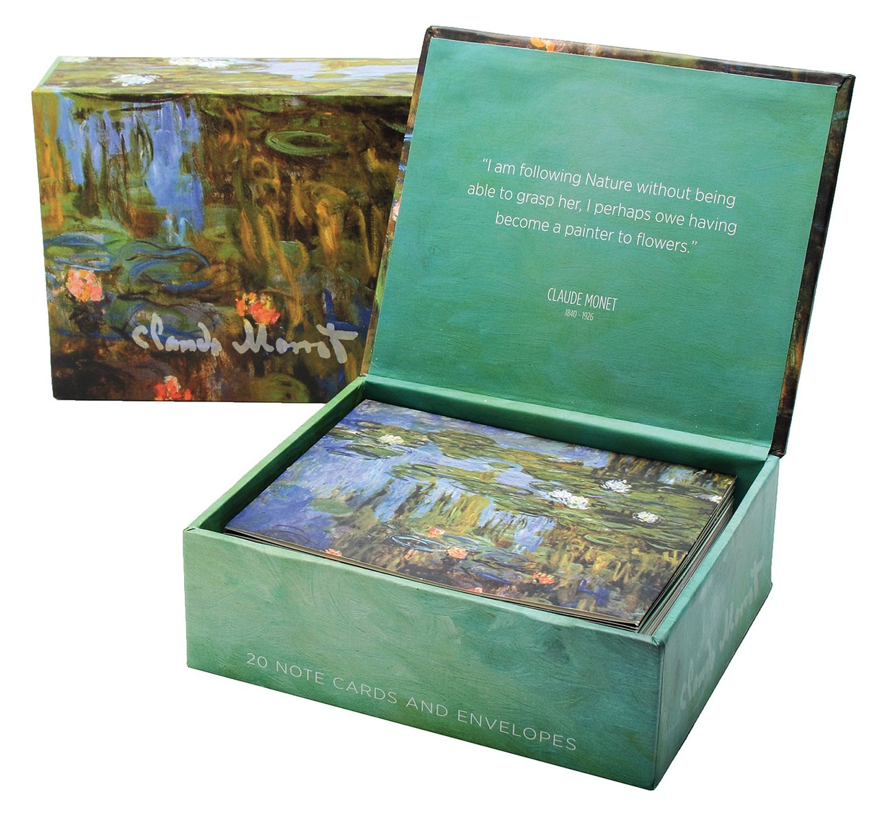 claude monet water lilies boxed notes