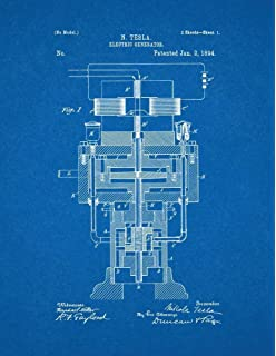 Amazon tesla apparatus for transmitting electrical energy tesla electric generator patent print art poster blueprint 85 x malvernweather Gallery