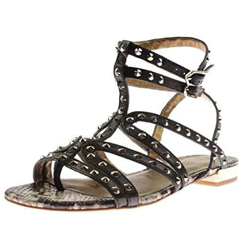 8b8e77d573b6 Sam Edelman Womens Demi Leather Studded Gladiator Sandals  Amazon.ca  Shoes    Handbags