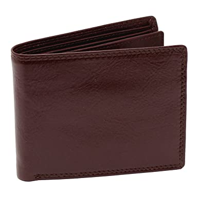 93ac407b86b1 TOPSUM LONDON Men's Tanned Leather Tri Fold Wallet With Zip Coin ...