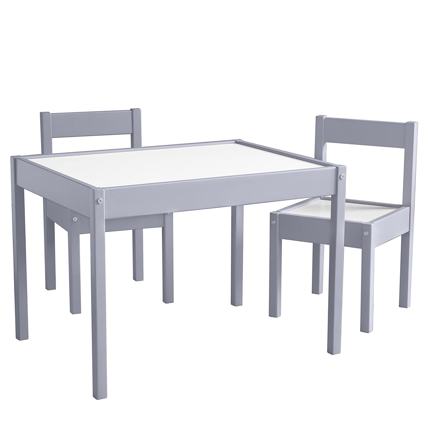 Amazon.com Baby Relax Hunter 3 Piece Kiddy Table and Chair Set Gray Baby  sc 1 st  Amazon.com & Amazon.com: Baby Relax Hunter 3 Piece Kiddy Table and Chair Set ...