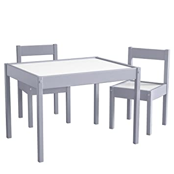 Baby Relax Hunter 3 Piece Kiddy Table and Chair Set Gray  sc 1 st  Amazon.com & Amazon.com: Baby Relax Hunter 3 Piece Kiddy Table and Chair Set ...