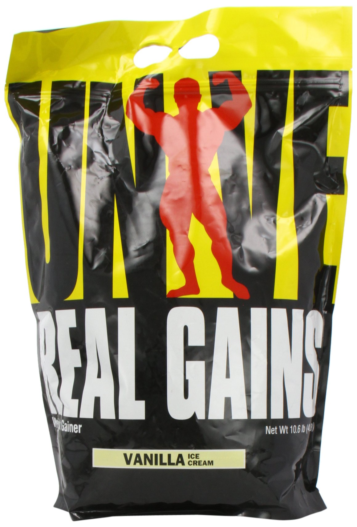 Real Gains Weight Gainer with Complex Carbs and Whey-Micellar Casein Protein Matrix Vanilla 10.6# by Universal Nutrition