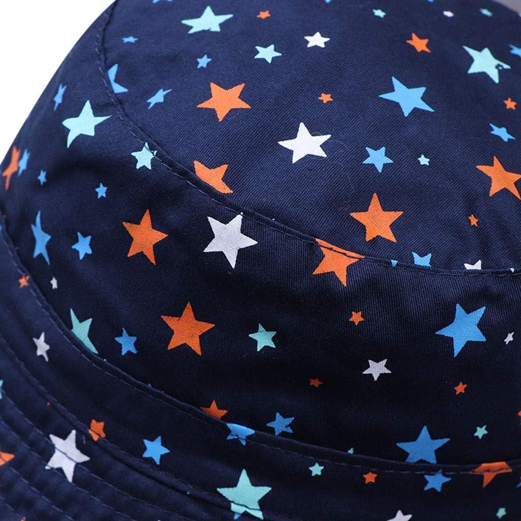 Topgrowth Cappellini Neonato Bimba Estivi Stampa del Fumetto Cappello da Sole per Bambini Secchio Cappelli Outdoor Cappuccio di Eave Berretto Cappello Pescatore