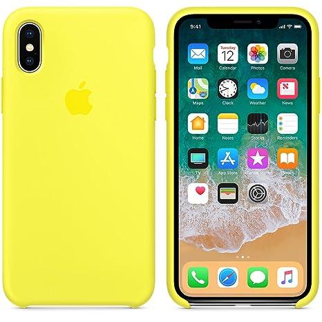 salvare 0d4e6 b074c 2018 estate ultima custodia in silicone per iPhoneX (iPhone X, Giallo fluo)