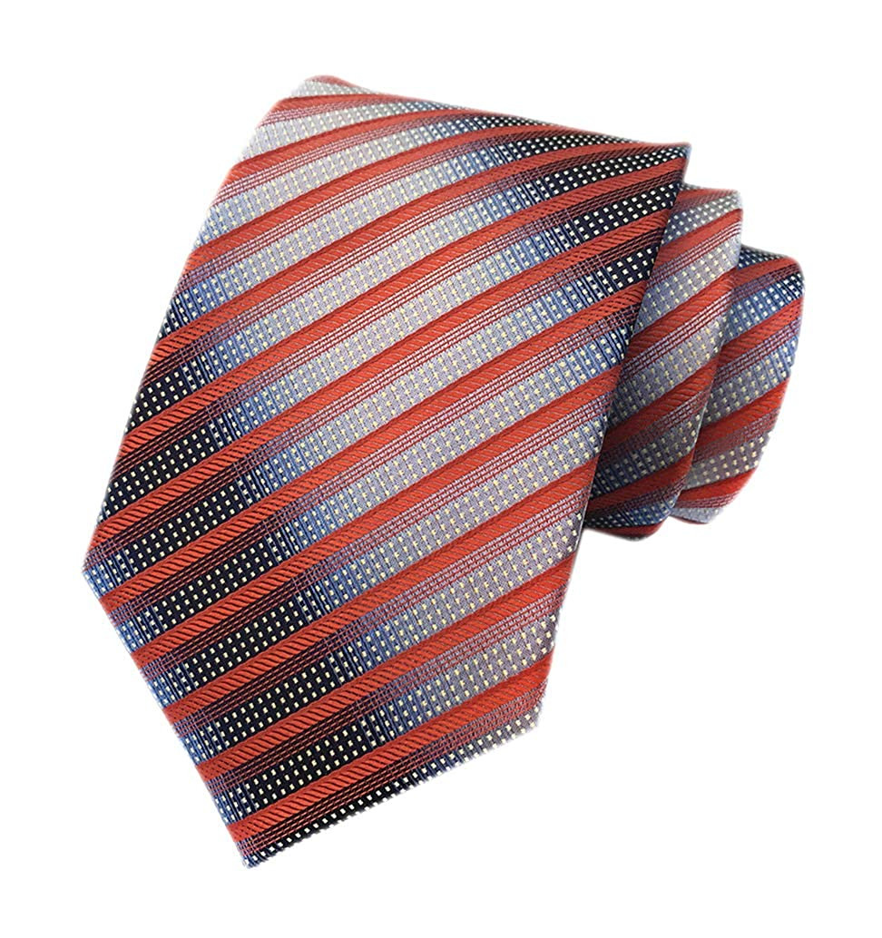Men's Modern Fine Stripe Silm Ties Woven Formal Business Suit Necktie by Elfeves