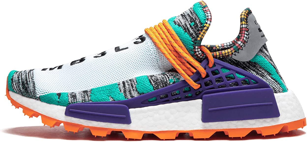 separation shoes 31be1 b3f3c Amazon.com | Pharrell Williams Solar Hu NMD (Cwhite/Multi ...