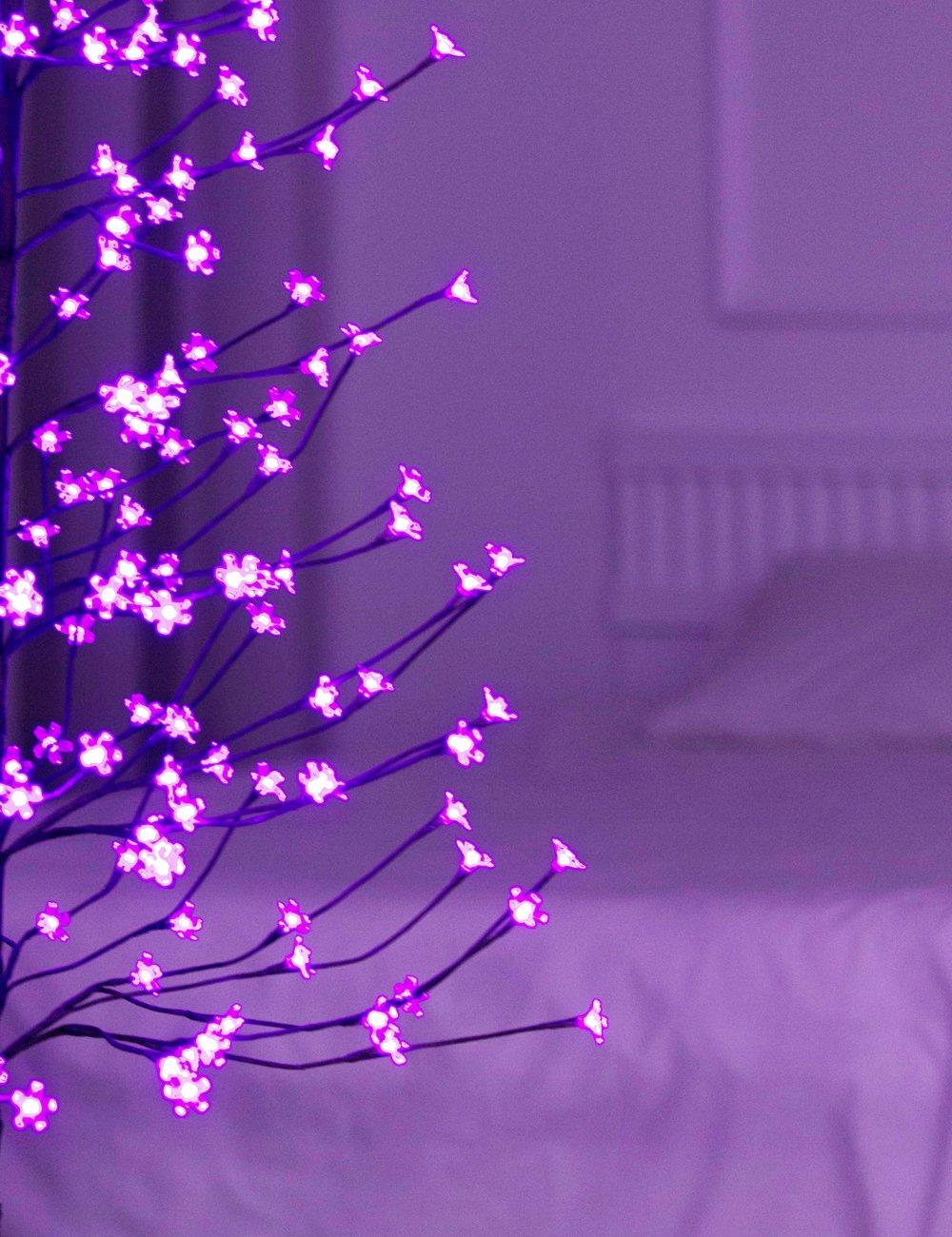 Bolylight LED Cherry Blossom Tree in Purple