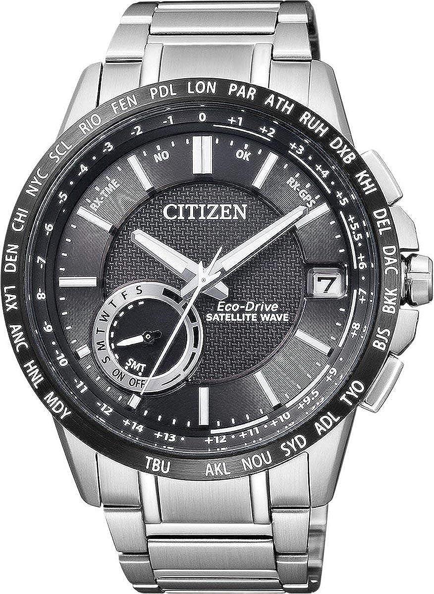 Citizen de Hombre Reloj de Pulsera Satellite Wave analógico de Cuarzo Acero Inoxidable cc3005–51E