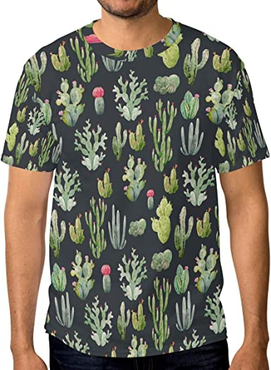 Camiseta para hombre con cuello redondo y diseño de cactus ...