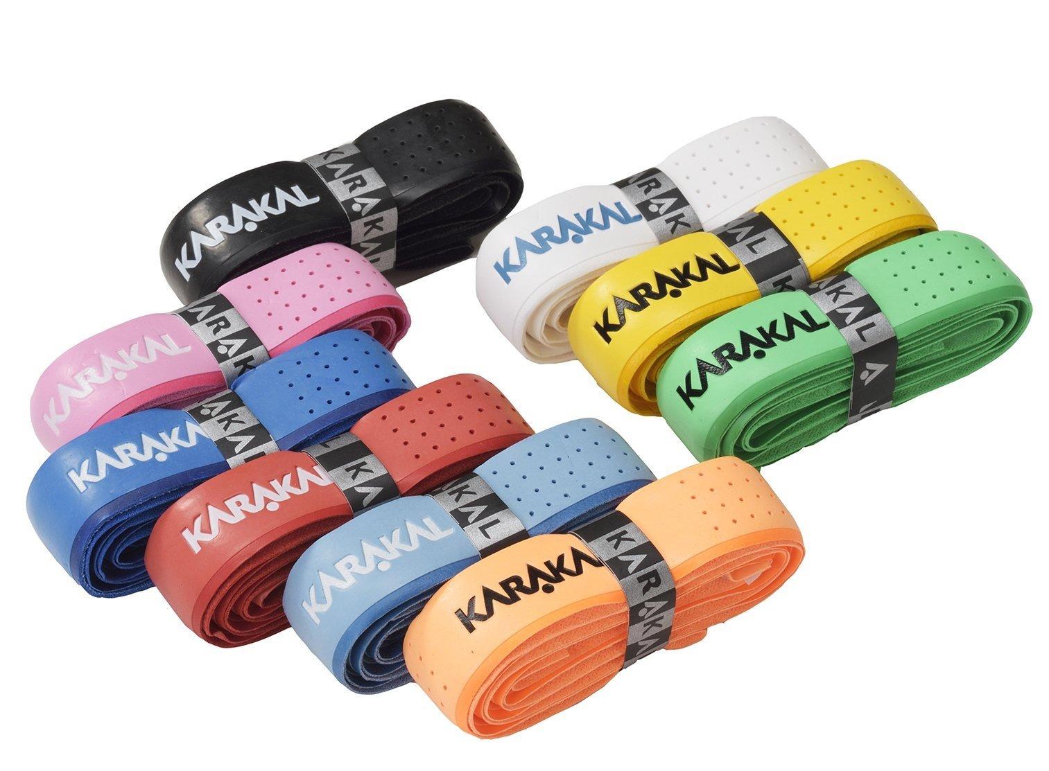 Karakal PU Super Tribal Grip Box 12 Replacement Grip-Assorted Colors