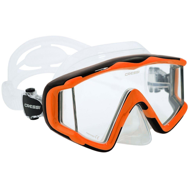 Cressi Pano 3 Mask (Clear Orange)