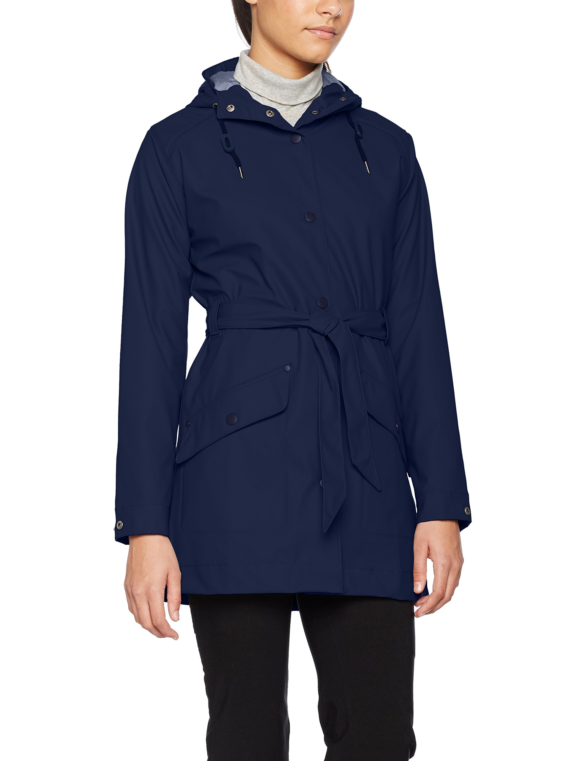 Helly Hansen Women's Kirkwall Rain Coat, Evening Blue, Large
