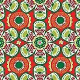Jillson Roberts 6 Roll Count Festive Feliz Christmas Recycled Gift Wrap, Multicolor