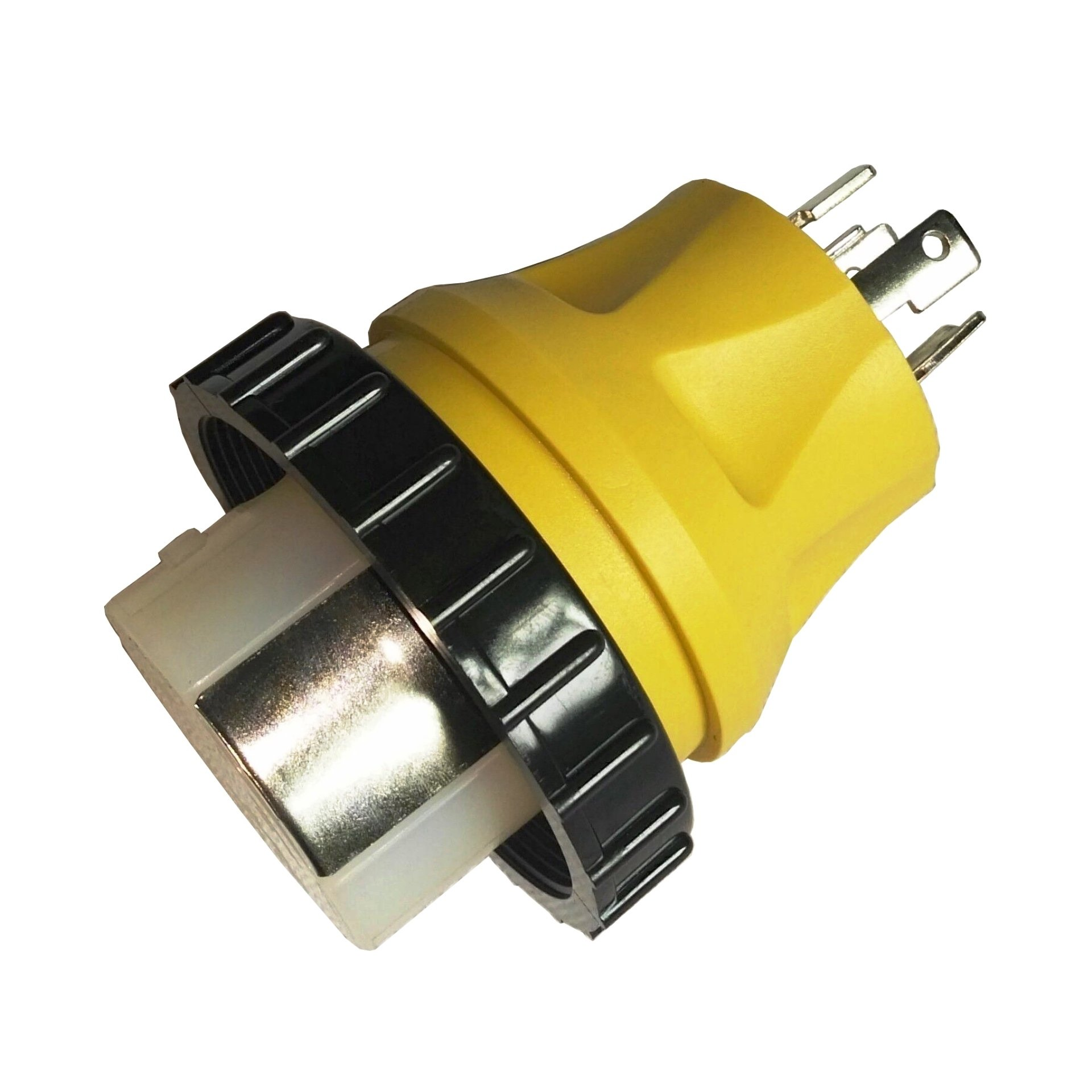 Parkworld 692118 Shore Power Adapter Generator 30A L14-30P male to Marine 50A SS2-50R female with locking ring