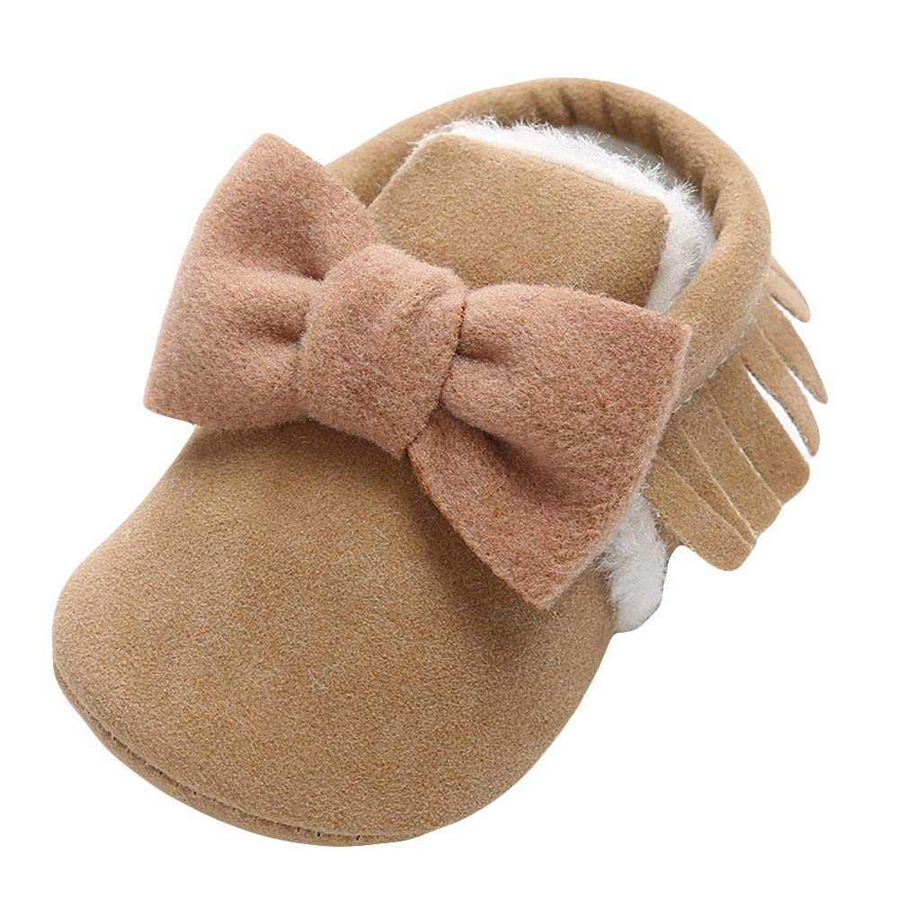 Infant//Toddler Lurryly❤Kids Baby Bowknot Cotton Keep Warm Prewalker First Walkers Shoes