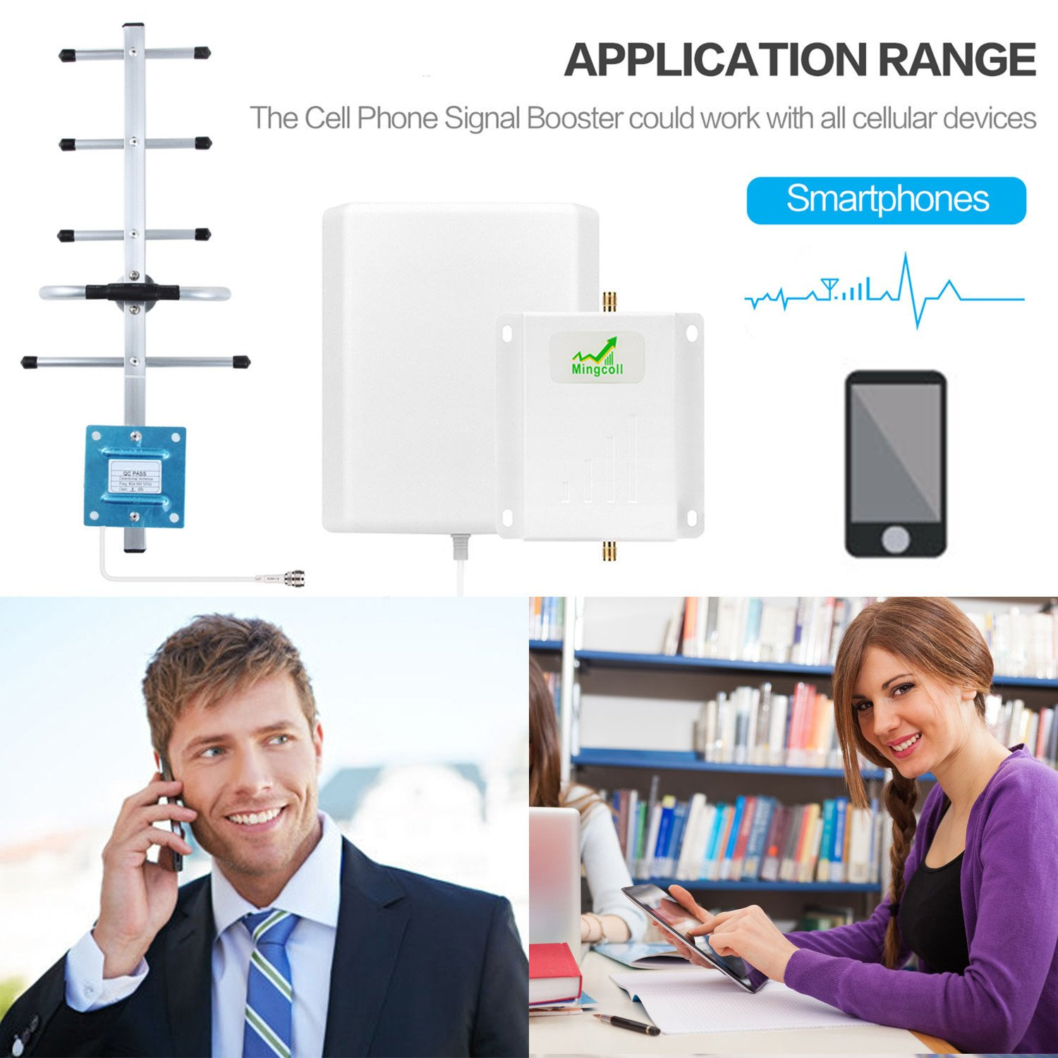 Mingcoll Cell Signal Booster ATT 850MHz 2G 3G Band 5 Cell Phone Signal Repeater Booster With Outdoor Yagi Antenna Kit for Home and Office (ATT 2G 3G) by Mingcoll (Image #4)
