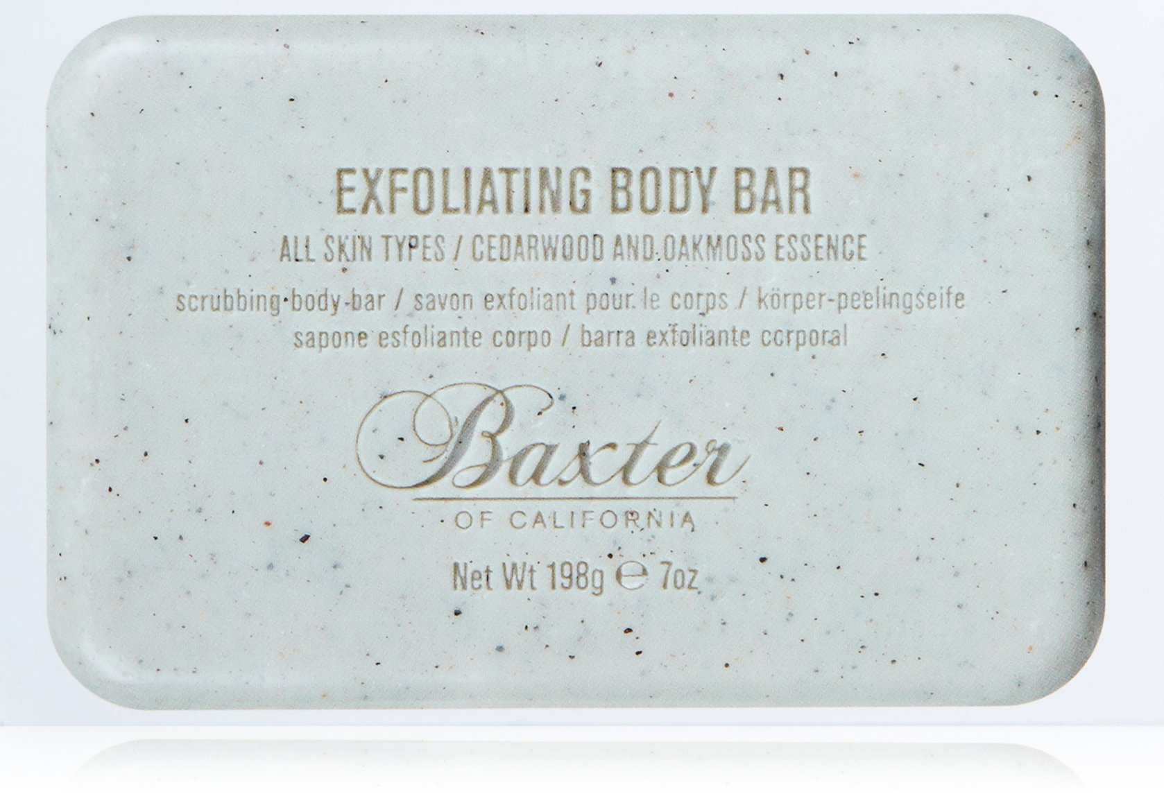 Baxter of California Men's Exfoliating Body Bar Soap, Cedarwood and Oak Moss Essence, 7 oz by Baxter of California