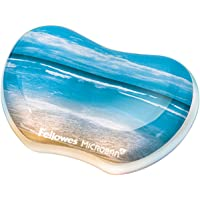 Fellowes Photo Gel Utility Wrist Rest with Microban Protection, Sandy Beach (9179501),Blue
