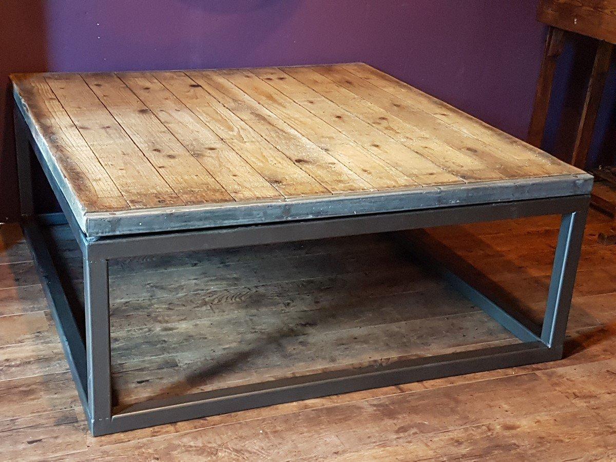 Table Basse Industrielle En Bois Et Métal Amazonfr Handmade