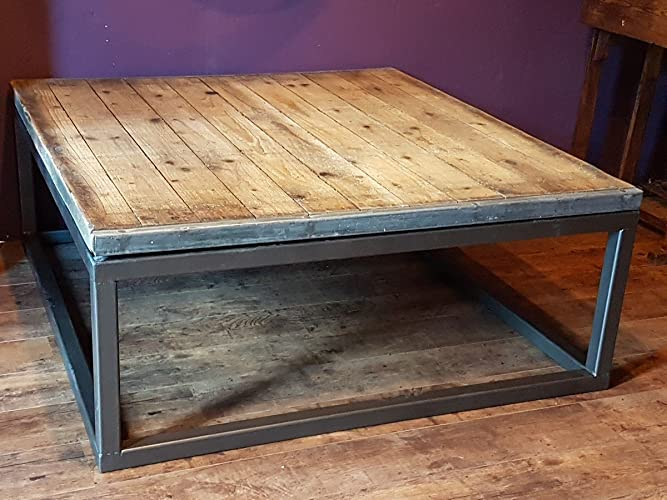Table basse industrielle en bois et métal: Amazon.fr: Handmade