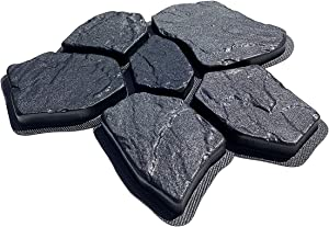 AUTUMN Made in USA Flagstone Mold for Concrete, DIY Flagstone Pavers, Concrete Mold, Cement Mold, Paver Mold, Garden Decor Mold, Pavers for Garden Walkway, Concrete Walkway Molds, Set of 6