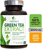 Green Tea Extract 98% Standardized EGCG Weight Loss 1000mg - Boost Metabolism for Healthy Heart - Antioxidants…