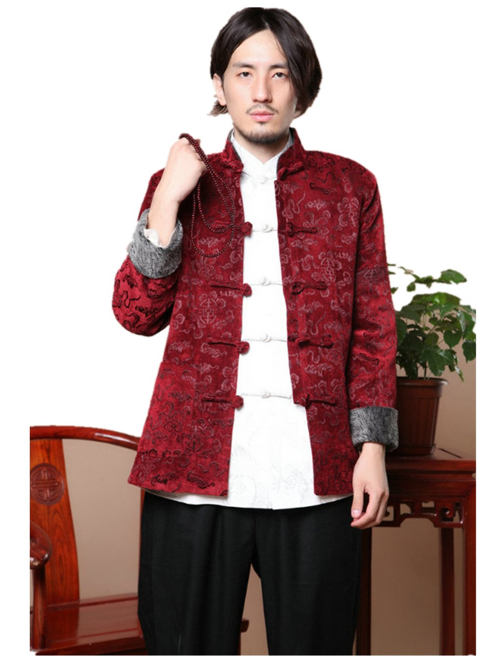 Wool High-end Tang Suit Characteristic Dress Retro Jackets Coats Business Jackets Full Dress