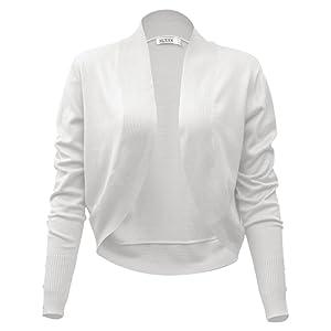 MUXXN Retro manteau tricote et bouton de femme des annees 1950 aux manches longues