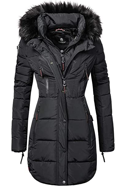 neue Fotos vollständige Palette von Spezifikationen moderner Stil Marikoo Moonshine Long Ladies' Winter Puffer Coat with Faux Fur 6 Colors  XS-XXL