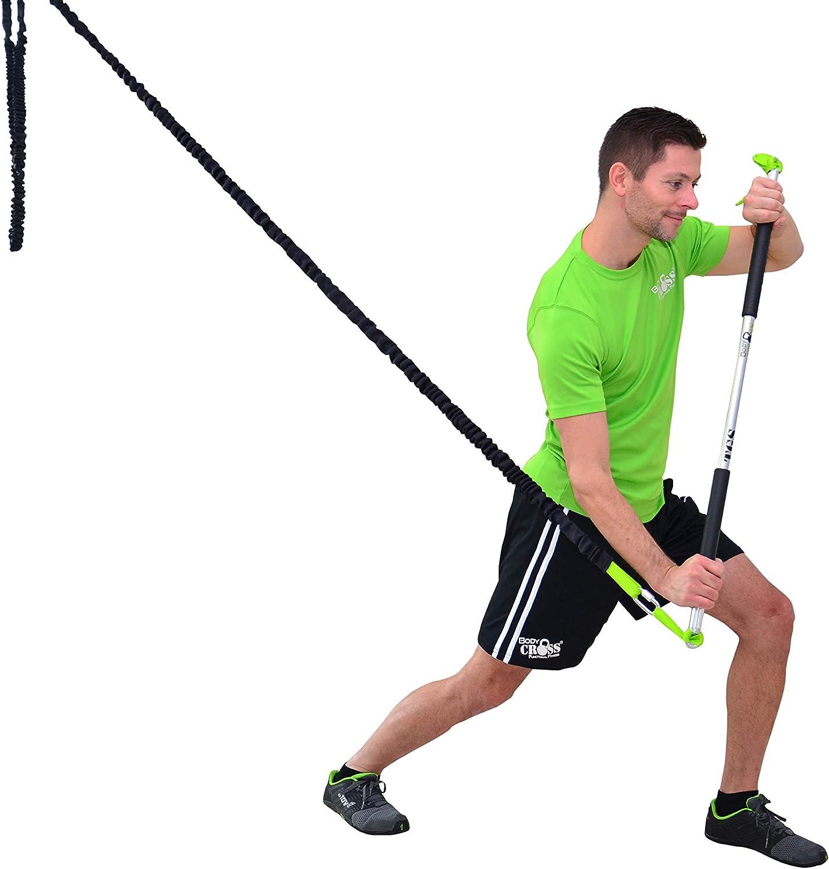 Professional Tube Grip Stick para Rip Entrenamiento | hasta 24 kg Fuerza de tracción, calidad de estudio, Rip Trainer con übungshandbuch, correa de ...