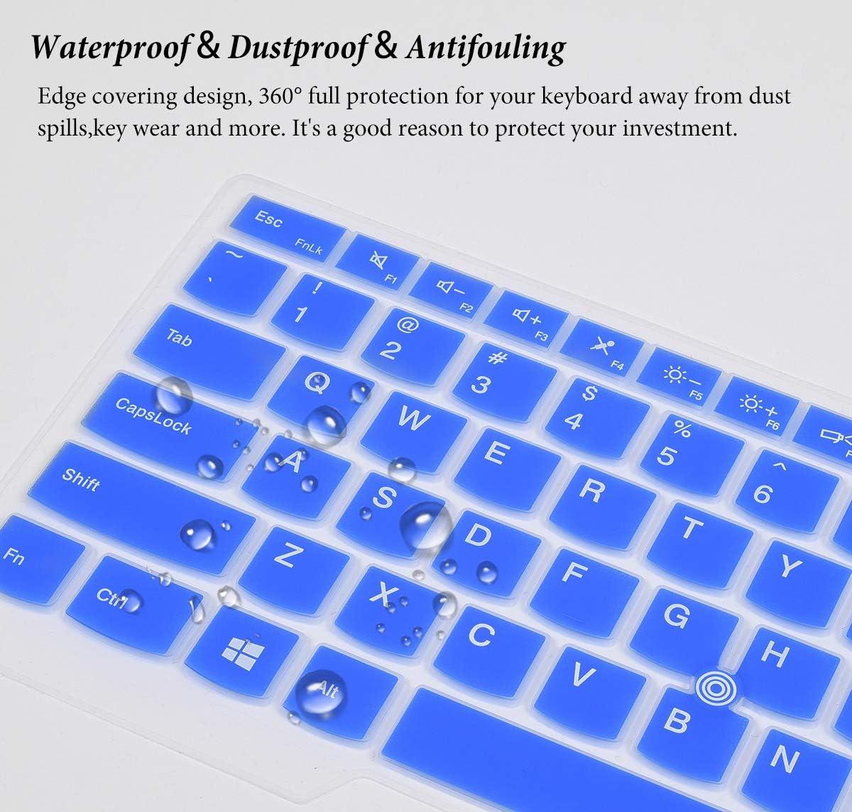 Blue Keyboard Cover Skin for 2019 2018 2017 Lenovo Thinkpad X1 Carbon 5th//6th//7th//ThinkPad X1 Yoga 2nd//3rd//4th 2019 2018 2017//Thinkpad A475 L460 L470 T460 T460p T460s T470 T470p T470s T480 T480S