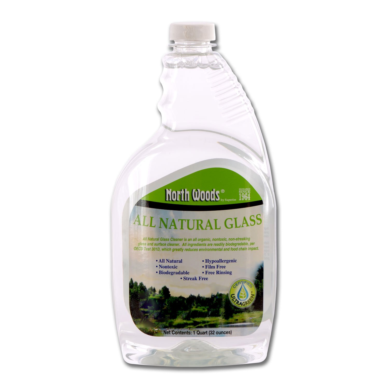 Ultra Green All Natural Glass - Glass & Surface Cleaner (Pack of 12)