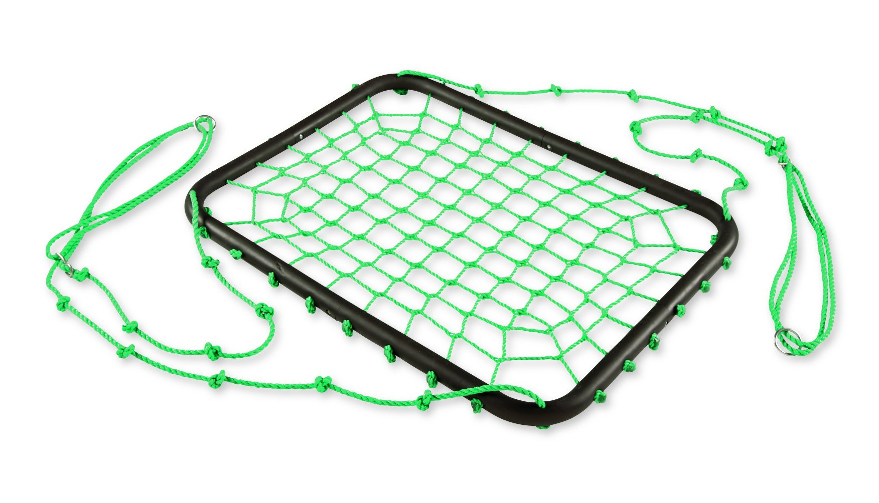 Deluxe Platform Swing, Nylon Rope and Padded Steel Frame - Green - 40''L x 30''W by HearthSong®