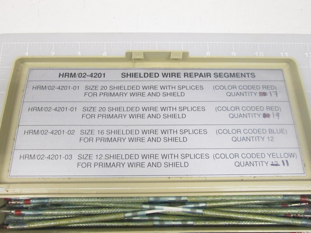 HRM/02-4201, 5841-01-269-2220 Shielded Wire Repair Segments Sizes ...