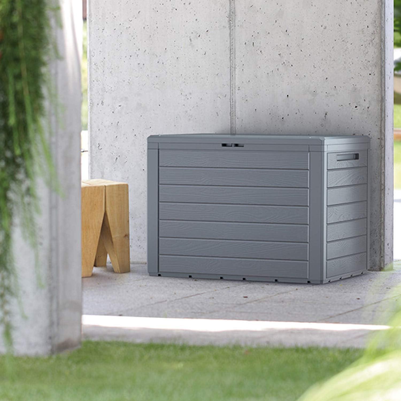 FineHome - Arcón de plástico para Cojines, 190 litros, para jardín ...