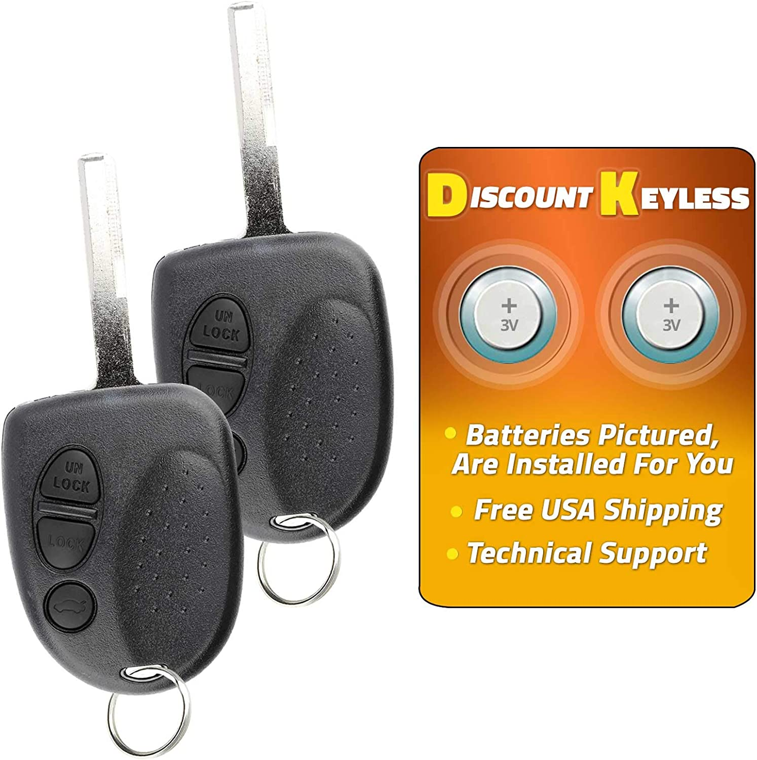 2 Replacement 4 BOTTON Remote Key Fob Keyless Entry For Nissan 2004-2006 Maxima