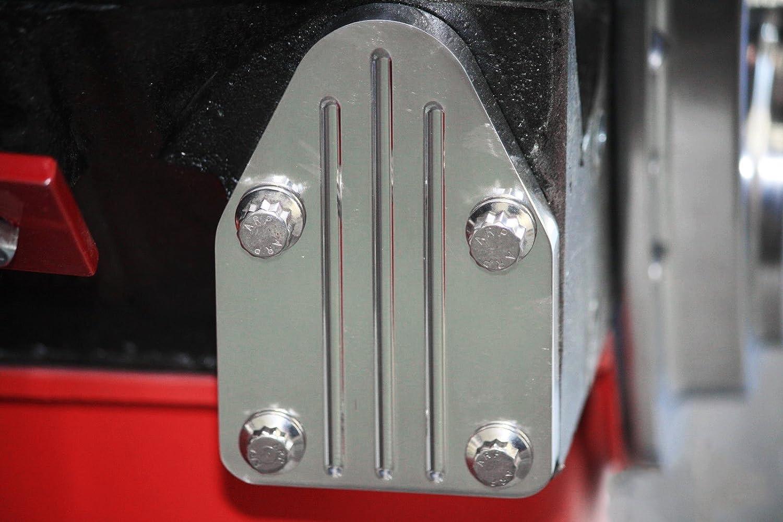 SBC Billet Aluminum Fuel Pump Block Off Plate Chevy 327 350 383 400