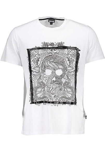 7e8976328f8bf5 Just Cavalli T-Shirt Uomo Colore Bianco: Amazon.it: Abbigliamento