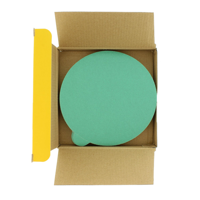 Variety//Assortment Pack 6 Green Film PSA Self Adhesive Stickyback Sanding Discs 5 of Each grit 800, 1000, 1500, 2000, 3000 -Box of 25 Sandpaper Discs Ultra Fine Dura-Gold -Premium Film Back