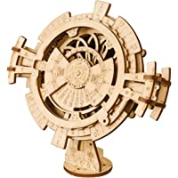 ROKR 3D Wooden Mechanical Puzzle DIY Perpetual Calendar Craft Kits Laser-Cut Model Kit to Build for Adults Great Birthday for Women and Men