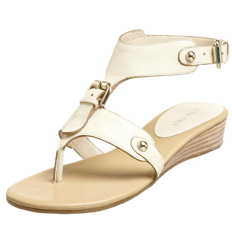 Nine West Women's Onlee Suede Ballet Flat B001L1RSHU 7.5 M US Ivory Leather