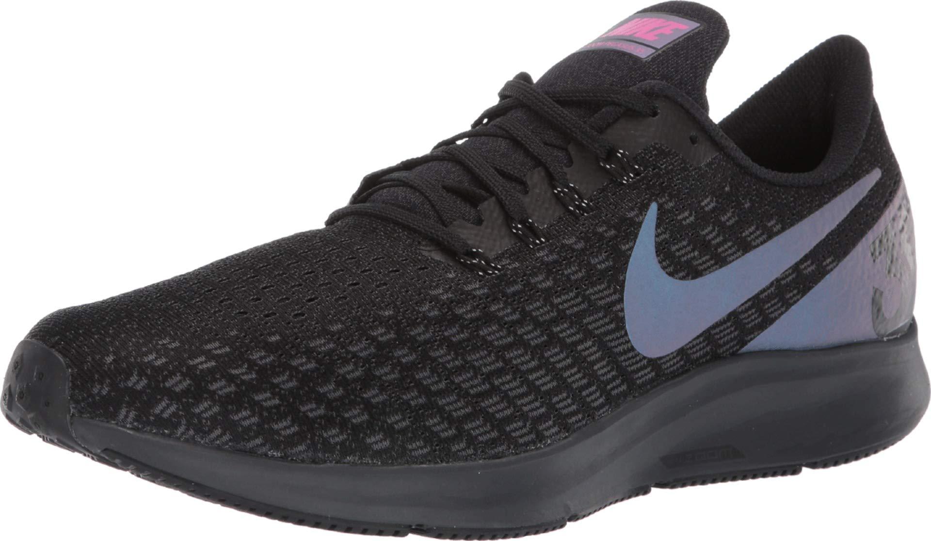 Nike Men's Air Zoom Pegasus 35 Running Shoes, Black/Laser Fuchsia-Anthracite (US 10.5)