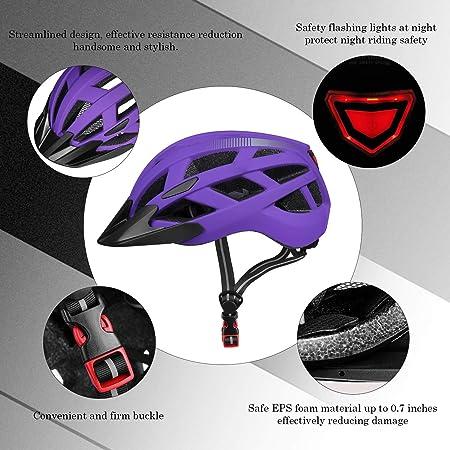 PHZING Bicycle Helmet CE Certified Adjustable Adult Helmet with Detachable Visor