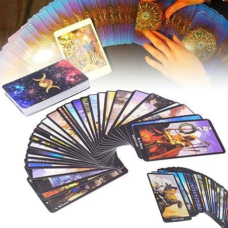 zhuangyulin6 Juego de Cartas de Tarot, 78 Cartas Rider-Waite Smith Cartas de baraja de Tarot