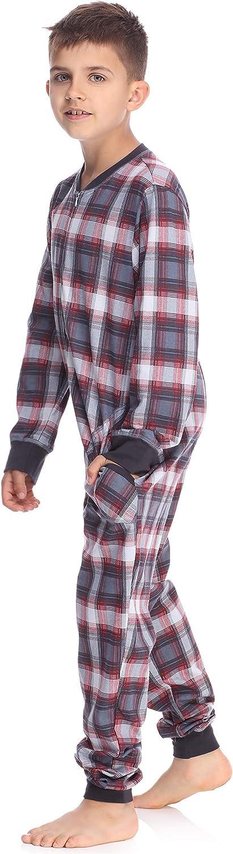 Timone Jungen Jugend Schlafanzug Strampelanzug Schlafoverall TI121