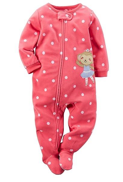 cc2c228c3c3f Amazon.com  Carter s Girls Long Sleeve 1 Piece Pajama Pink Ballerina ...