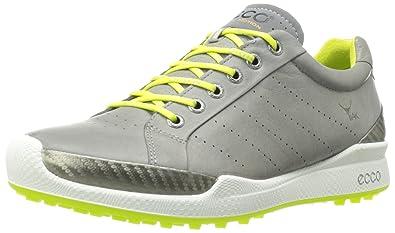 ECCO Mens Biom Golf Hybrid Warm Grey/Lime Punch 46 (US Men's 12-