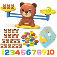Kaekid Toys for 3-8 Year Olds Boys Girls, Bear Balance Game Toy, Educational Learning Counting Number Math Toy with…