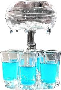 6 Shot Glass Dispenser and Holder,Shots Dispenser for Filling Liquids, Multiple 6 Shot Dispenser,Bar Shot Dispenser, Cocktail Dispenser,Carrier Liquor Dispenser Drink Tool,Dispenser With Slogan